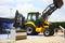 Stock Image : Backhoe Loader from Mahindra Construction Equipments