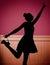 Stock Image :  Bailarín joven alegre en la sala de baile