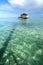 Stock Image : Bajau fisherman's wooden hut