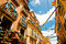 Stock Image : Balconies and garlands
