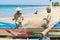 Stock Image : Balinese fishermen