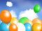 Stock Image : Balloons floating in sky