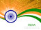 Stock Image :  Bandera abstracta de la India