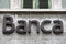 Stock Image : Bank sign on the facade of an italian bank