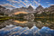 Stock Image : Banner Peak and Mount Ritter Reflection