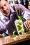 Stock Image : Barkeeper preparing Mojito