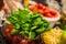 Stock Image : Basil for Italian dish