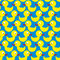Bathing duck seamless pattern. Background of yellow toys. Vector
