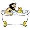 Stock Image : Bathing man