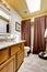 Stock Image : Bathroom interior with skylight