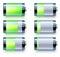 Stock Image : Battery level indicators