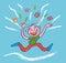 Stock Image : Be happy! Illustration.