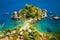 Stock Image : Beach and island Isola Bella