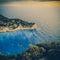 Stock Image : Beach Navagio in Zakynthos, vintage coaster