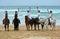 Stock Image : Beach riders