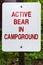 Stock Image : Bear warning sign
