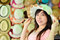 Stock Image : Beautiful asian woman with hat