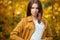 Stock Image : Beautiful autumn woman