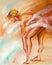 Stock Image : Beautiful ballerina. Oil painting.