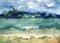 Stock Image : Beautiful beach Baikal