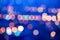 Stock Image : Beautiful big city blurring lights abstract circular bokeh blue