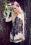 Stock Image : Beautiful blonde girl posing in dress