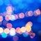 Stock Image : Beautiful city blurring lights abstract circular bokeh blue back