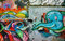 Stock Image : Beautiful, colorful graffiti art, Vietnam street