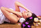 Stock Image : Beautiful female at spa salon