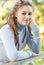 Stock Image : Beautiful girl with dreadlocks