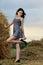 Stock Image : Beautiful girl enjoying the nature