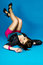 Stock Image : Beautiful girl with long legs