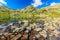 Stock Image : Beautiful glacier lake and colorful stones,Retezat mountains,Transylvania,Romania