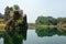 Stock Image : Beautiful lake near Kochi,Malabar coast,Southern India