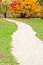 Stock Image : Beautiful outdoors - footpath in autumn park