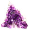 Stock Image : Amethyst cluster