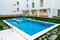 Stock Image : Beautiful swimming pool filled with water in a residential complex