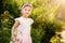 Stock Image : Beautiful Toddler In Garden