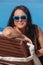 Stock Image : Beautiful Woman Enjoying Summer Vacation