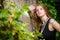 Stock Image : Beautiful woman in fashion pose