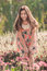 Stock Image : Beautiful Woman With Gerbera Flower