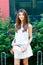 Stock Image : Beautiful young woman portrait