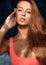 Stock Image : Beauty model posing