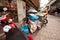 Stock Image : Bedelaar op de straat in Chinatown Bangkok.