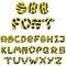 Stock Image : Bee alphabet