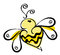 Stock Image : Bee logo
