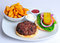 Stock Image : Beef burger and chips