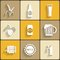 Stock Image : Beer Flat Icons