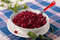 Stock Image : Beetroot salsa with garlic and ginger