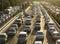 Stock Image : Beijing heavy traffic jam and cars
